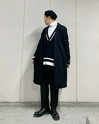 ★masaki★ - Neuw Denim Coat, Dr. Martens 3hole - Black & White