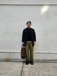 Curtis W - Cabane De Zucca Jacket, Labourunion Pants, Prada Shoes, Rubber Killer Tote - 12/01/2020 : )
