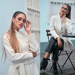 Andrea Chavez - Tom Gutie White Coat - Art & Fashion