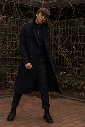 Georg Mallner - Topman Coat, Asos Turtleneck, H&M Pants, Dr. Martens Boots - January 16, 2020