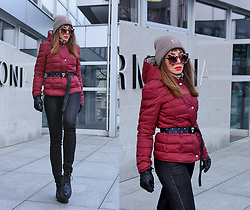 Jointy&Croissanty © - Bonprix Jacket, Bonprix Jeans - Burgundy and black