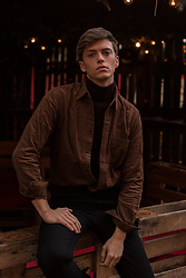 Georg Mallner - Uniqlo Shirt, Weekday Turtleneck, H&M Pants - January 26, 2020
