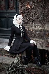 Joan Wolfie - Killstar Blessed Be Dress, Killstar Krystal Boots - BLESSED BE // Joan Wolfie