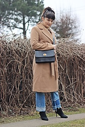 Moda_i_takie_tam - H&M Camel Coat - Bad hair day