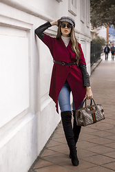 Maria Lucia Barrueta - Zaful Coat, Blue Jean, Zaful Boots, Gucci Bag - Winter outfit