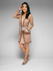 Kimberly Kong - Asos Robe Mini Dress, Tiffany's T Smile Necklace, Full Line Collection Sparkly Clutch, Zara Strappy Shoes - Valentine's Day Outfit Ideas: Fab Dress Options Under $75