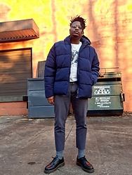 Jason - Dr. Martens Boots, Asos Puffer Jackets - Case of the Blues