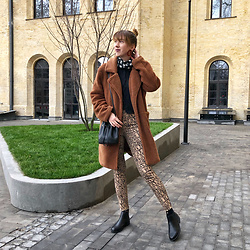 Julia F. - Bonprix Teddy Coat, H&M Animal Print Jeans, H&M Bag, H&M Chelsea Boots - Hello! are you still there?