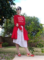 Saguaro Style - Sven Clogs Leaf Punch In Red, Anthropologie Elevenses Corset Trench Coat In Red, Uniqlo Super Mario T Shirt - 02.09.20