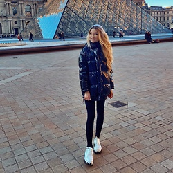 ♡Anita Kurkach♡ - Prada Shoes, Diesel Jacket, Versace Scarf - Paris and Louvre ✨