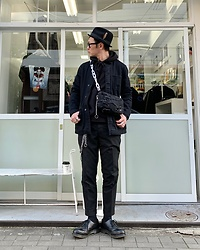 ★masaki★ - Newyorkhat Hat, Neuw Denim Jacket, Neuw Denim Pants, Dr. Martens Limited 3hole - Black Outfit