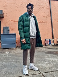 Jason - Adidas Ozweego Granite, Asos Cropped Pants, Forever 21 Puffer Jacket - Not Excited