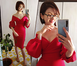Malinina-ek - - Femmeluxefinery Dress - Red dress