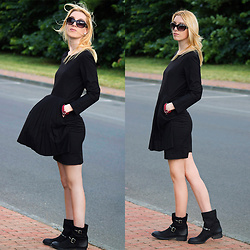 Aurora Berill - Chanel Earrings, Front Row Shop Dress, H&M Sunglasses, Primadonna Boots - Rock 'n' Roll Wednesday