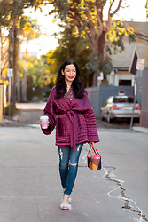 Lisa Valerie Morgan - Anthropologie Kimono Jacket, Adriano Goldschmied Jeans, Sandals - Anthropologie Kimono Jacket