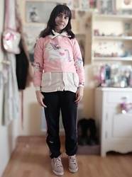 Lulu Longstocking - Second Hand Unicorn Top, Ice Cream Necklace, Adidas Pants - Unicorn