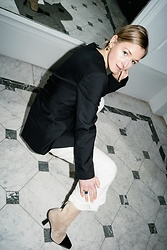 Anna Borisovna - Goen J Blazer, 3.1 Phillip Lim Trousers, Paris Texas Shoes - Black and White
