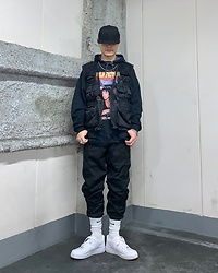 ★masaki★ - Rothco Vest, Pulp Fiction Hoodie, Rothco Cargo, Nike Air Force1 - Pulp Fiction