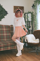 Lovely Blasphemy - Nasty Gal White Platform Sneakers, Wc Peach Top - Peach
