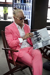 INWON LEE - Byther Pink Suit Jacket, Byther Pink Dress Pants, Byther White Dress Shirt - Classic Pink Suit with rings