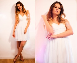 Jenny - Ever Pretty Dress, Tamaris Shoes - WHITE PARTY