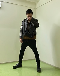★masaki★ - Balenciaga Leather Jacket, R13 Denim Jeans, Dr. Martens Leather Shoes - ROCK STYLE