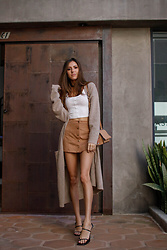 Jenny Mehlmann - Forever 21 Crop Tank Top, H&M Long Cardigan, Zara Sandals - @thehungarianbrunette // Neutral look #2