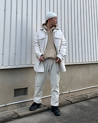 ★masaki★ - H&M Maison Martin Margiela, Zara Corduroy Pants, Nike Air Monarch - White Look