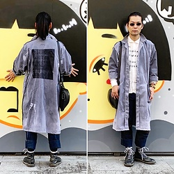 @KiD - Typhoon Mart Johns, Ssnmrkrn Shop Coat, Seditionaries Stencil Shirts, Christopher Nemeth Denim, Dr. Martens 10 Hole - JapaneseTrash539