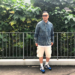 Mannix Lo - Neighborhood Savage Washed Denim Jacket, Uniqlo Cargo Shorts, Undercover X Nike Daybreak Sneakers - Don't trust everything you see, even Salt looks like Sugar