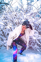 Carolyn W - Killstar Crescent, Fuzzy, Black Milk Clothing Galactic - March's Last Snow