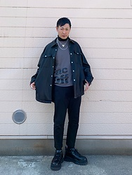 ★masaki★ - Zara Oversized Leather Shirts, Vitaly Necklaces, Neuw Denim Studio Pants, Eytys Angel - What a Lovely Day