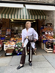 Anna Borisovna - Céline Blazer, Marni Belt, Sandro Pants, Other Stories Shoes, Marni Bag - The White Blazer