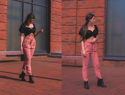 Jenny - Femmeluxe Top, Only Pants, Primark Shoes - PINK