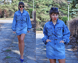Jointy&Croissanty © - Femmeluxefinery Dress - Denim dress