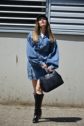 Elisabeth Green - Femmeluxe Dress - Denim Dress