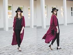 Ewa - Shein Burgundy Trench Coat - Burgundy trench coat