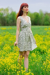 Bleu Avenue Ofbleuavenue - Amordress Vespa Print Sundress - Vespa Sundress