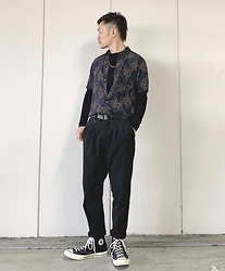 ★masaki★ - Neuw Denim Burning Rose Shirts, Neuw Denim Pleat Studio Pants, Converse Ct70 - NEUW DENIM