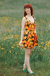 Bleu Avenue Ofbleuavenue - Modcloth Delighted All Day Romper In Citrus - Delighted All Day Romper
