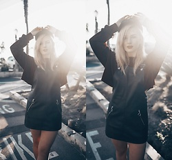 Vlada Kozachyshche - Forever 21 Dress, Forever 21 Cropped Sweatshirt, Stradivarius Cap - CATCHING THE SUN