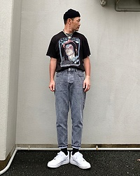 ★masaki★ - David Bowie Tee, Nike Airforce1, Vitaly Padlock - Ziggy played the guitar