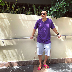 Mannix Lo - Cotton On Tee, Online Shop Patchwork Sweat Shorts, Havaianas Flip Flops - Every journey starts with a decision
