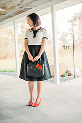 Lindsey Puls - Pocket Passionista Midi Skirt, Modcloth Purse - Hello Kitty Outfit
