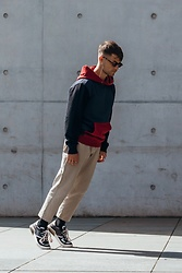 Kevin Elezaj - Coach Sneakers, Nike Pants, Coach Sweater, Komono Glasses - Free falling