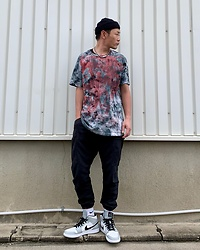 ★masaki★ - Obey Self Made Tie Dye, R13 Denim Cargo, Nike Air Jordan1, Vitaly Ballchain - Self Made TIE DYE