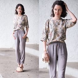 Claire H - Furla Metropolis Bag, Zara Feather Mules, Liebeskind Berlin Silk Pants, Zara Blouse - Soft and Softer