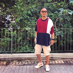 Mannix Lo - Asos Colour Block Oversize Tee, Uniqlo Cargo Shorts, Vans Style 36 Sneakers - People know exactly what they're doing